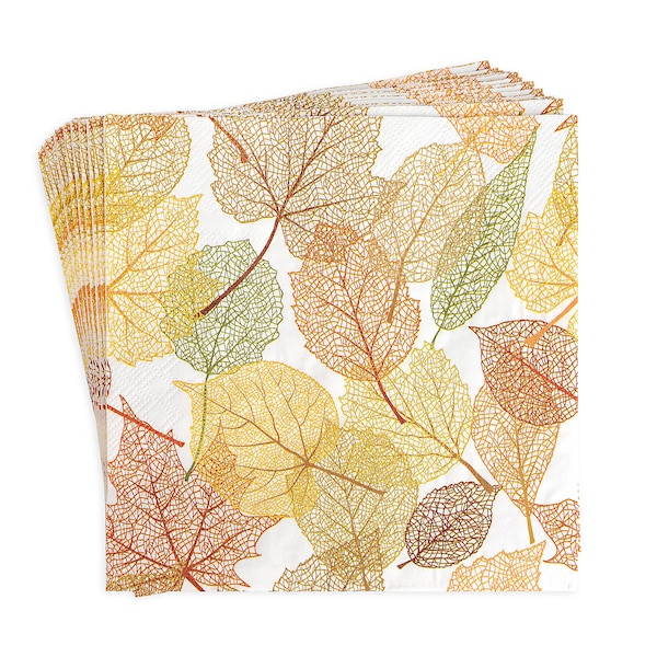 Serviette Autumn Leaves, terra