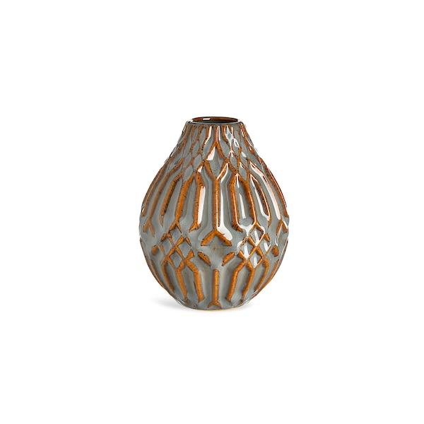 Vase Pattern, graublau