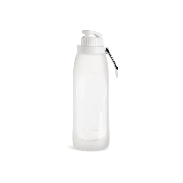 Trinkflasche, faltbar, weiß