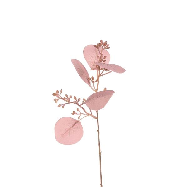 Kunstzweig Eukalyptus, rosa