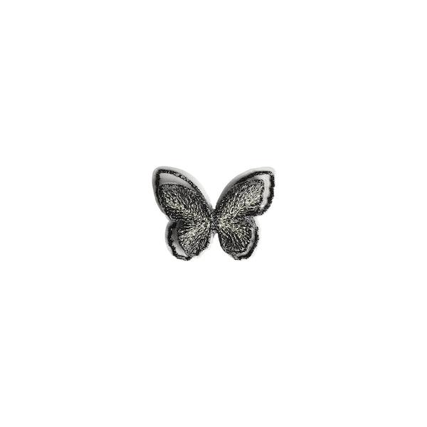 Schmetterling zum Kleben, dunkelgrau