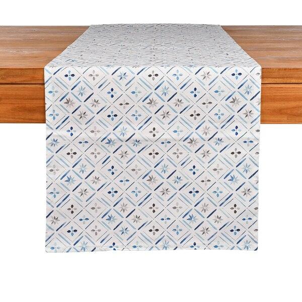 Tischläufer Blue Tiles, blau