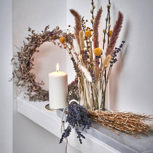 Trendige Trockenblumenvariation