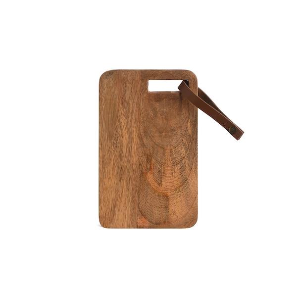 Servierbrett aus Holz, natur