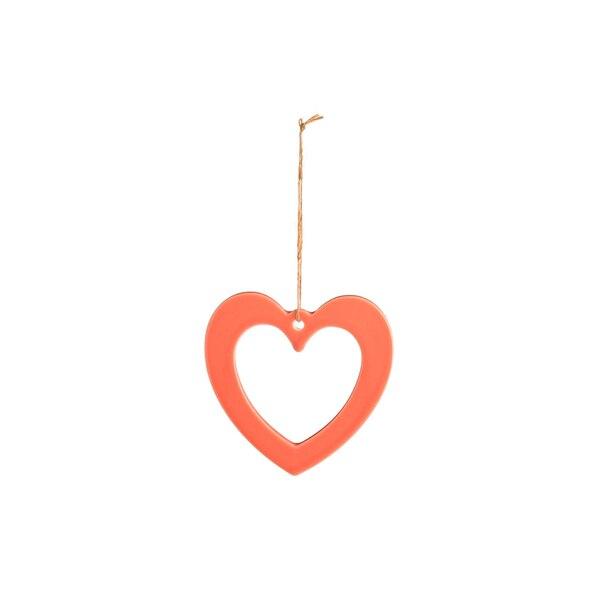 Anhänger Herz, pfirsich
