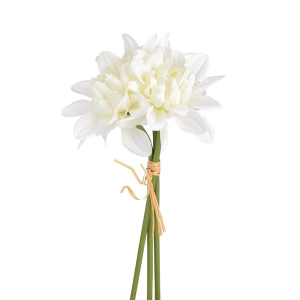 Blumenbündel Zinnie, 3 Blumen, weiß