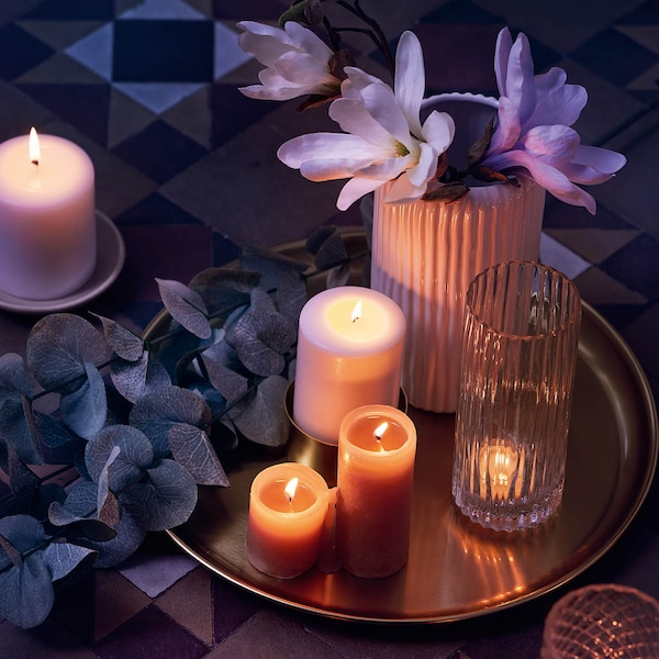 Schimmerndes Kerzen-Arrangement