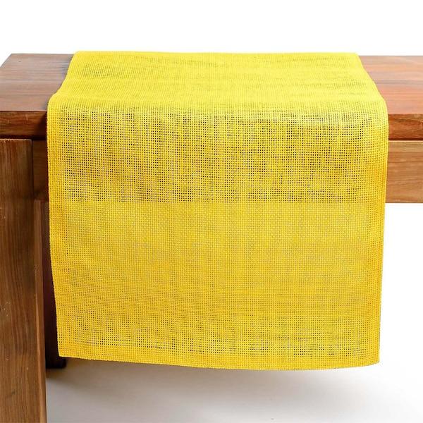 Tischläufer Uni, gelb