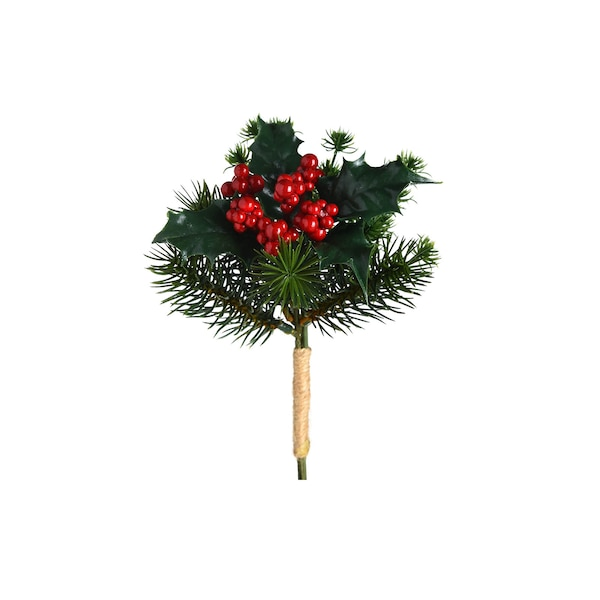 Blumenpick Ilex, grün