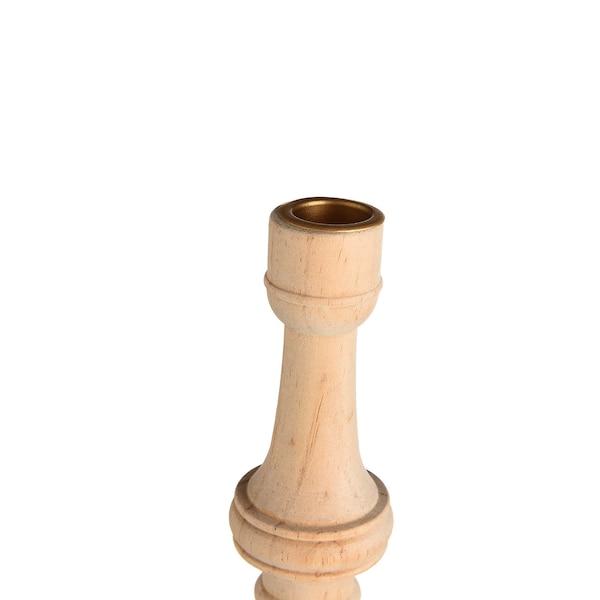 Chandelier à grandes bougies Antique, natur