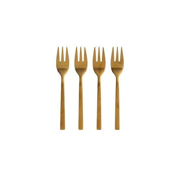 Kuchengabeln, gold, gold