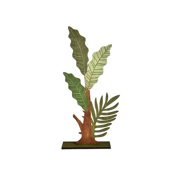 Dekoobjekt Palme, grün