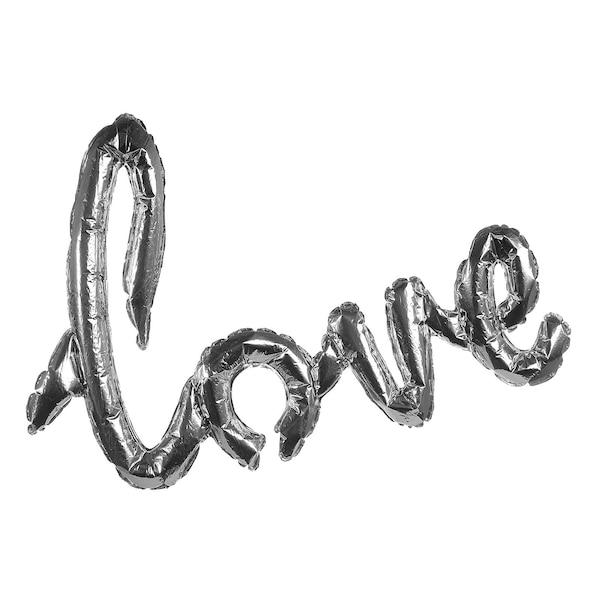 Folienballon Love, silber