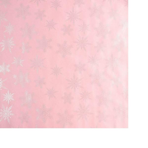 Geschenkpapier Snowflake, rosa
