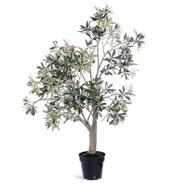 Kunstpflanze Olivenbaum im Topf, grün