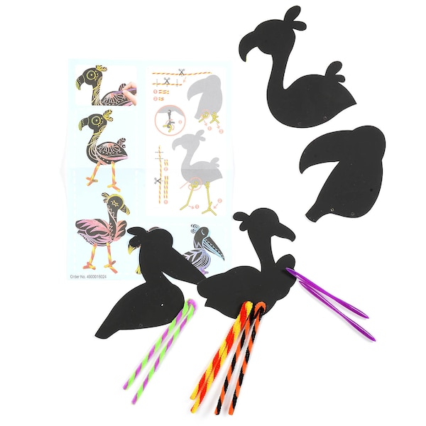 Kratzmotiv Flamingo, bunt