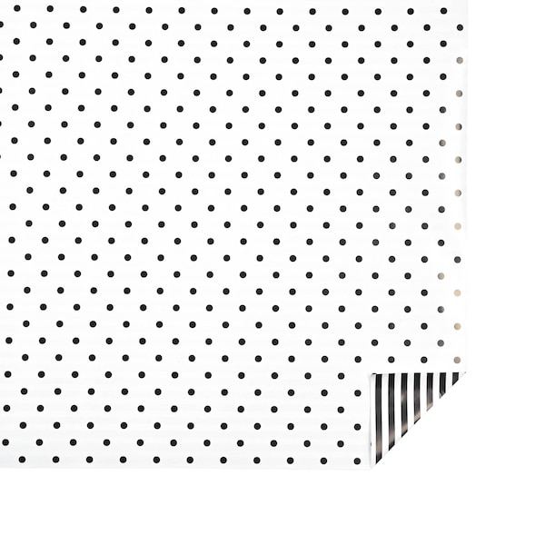 Geschenkpapier Dots & Stripes, schwarz