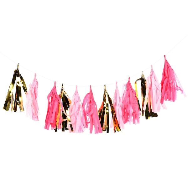 Girlande Tassel, rosa