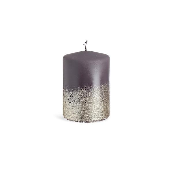 Bougie pilier Glitter, mat, violet