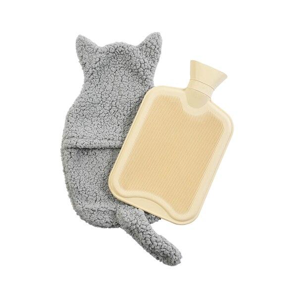 Wärmflasche Fluffi Cat, dunkelgrau