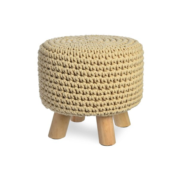 Hocker Crochet, natur