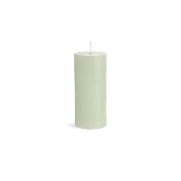 Bougie pilier Rustic, vert menthe clair