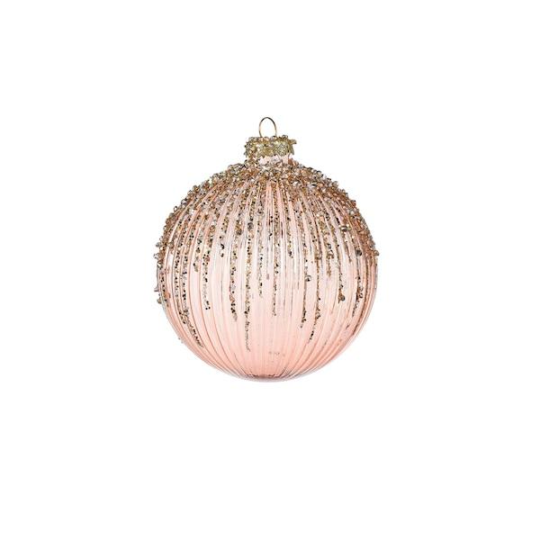 Weihnachtskugel Firework, rosa