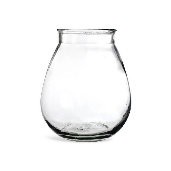 Vase aus Glas, bauchig , klar
