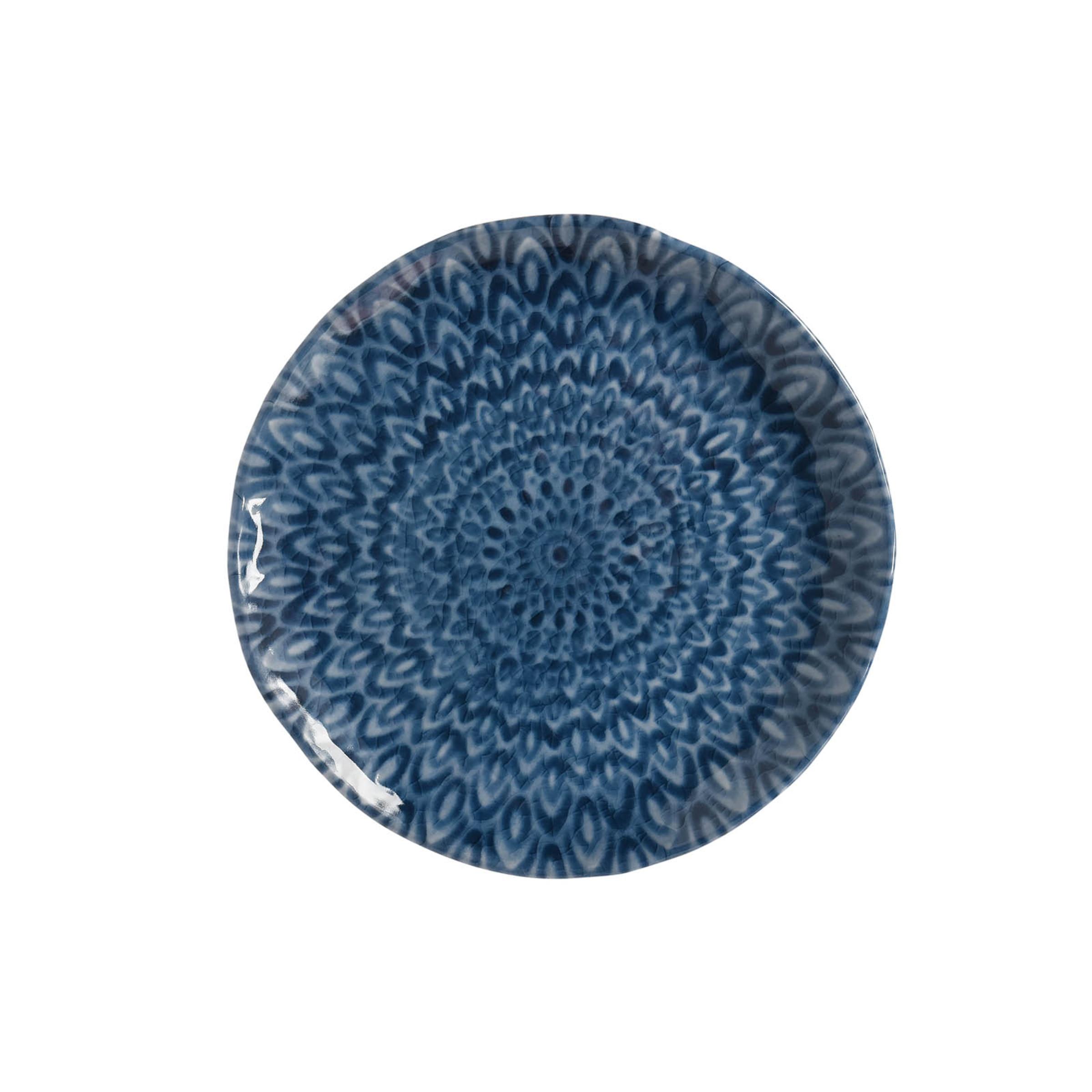Picknick-Teller Mandala, D:21,5cm, blau