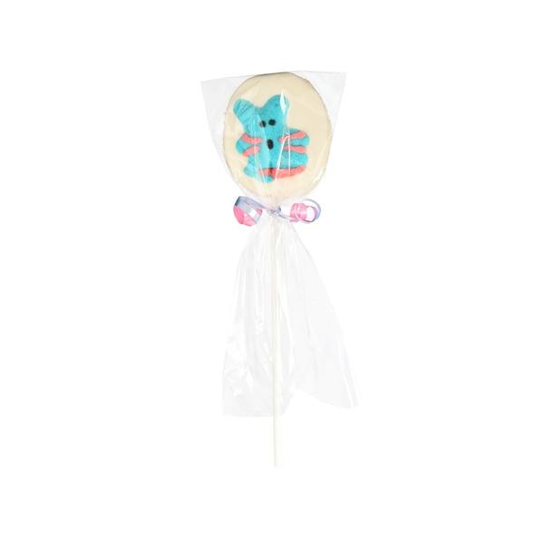 Marshmallow-Lolly mit Zuckerfigur, ohne Farbe