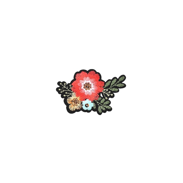 Aufkleber Blüte, bunt