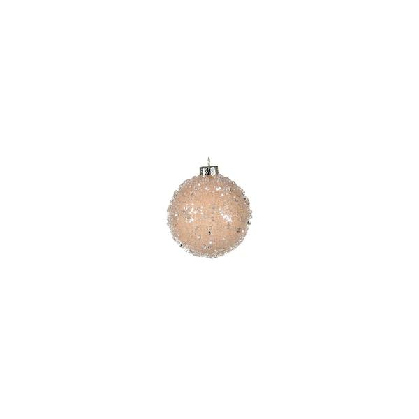 Mini-Weihnachtskugel Glimmerpearls, creme