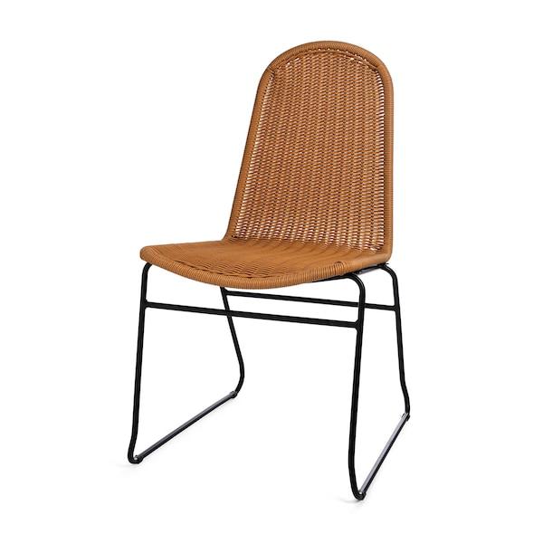 Outdoor-Stuhl geflochten, stapelbar, natur