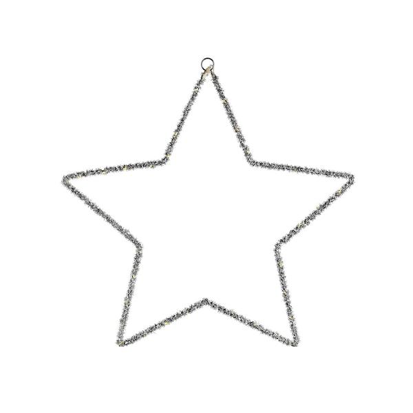 Lichtobjekt Stern, silber