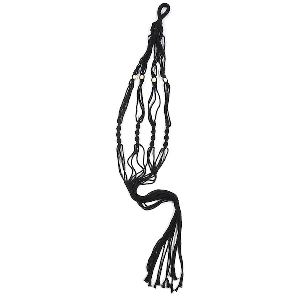 Hängenetz aus Makramee, schwarz