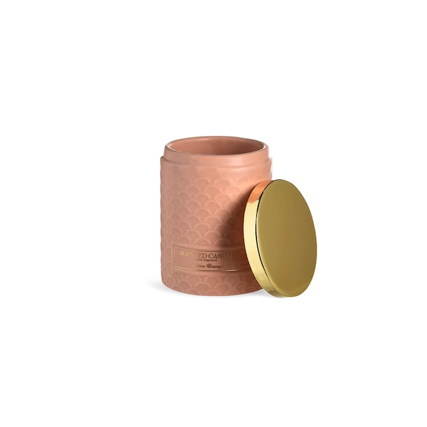 Duftkerze mit Deckel , rosa