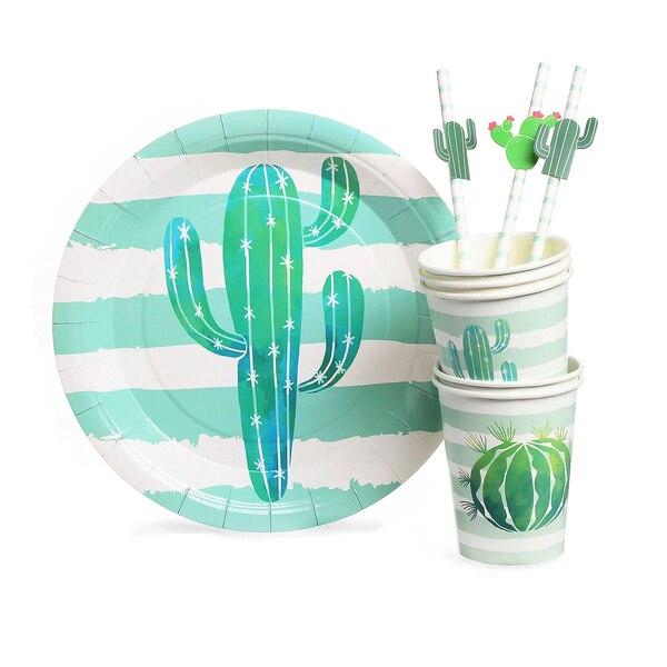 Papps-Set Kaktus, 28-teilig, grün