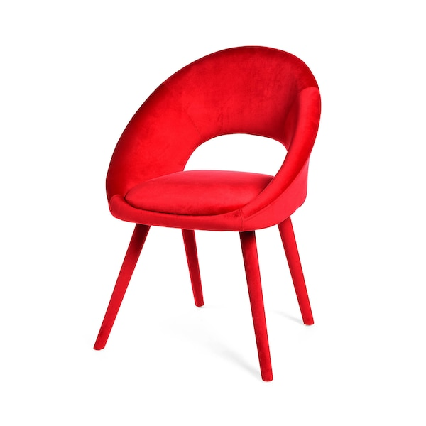 Samt-Stuhl, rot