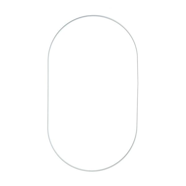 Metallring, oval, weiß