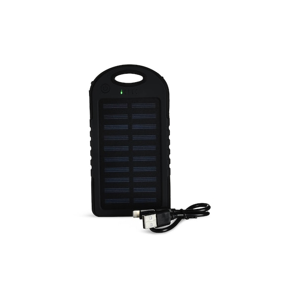 Solar-Powerbank, schwarz