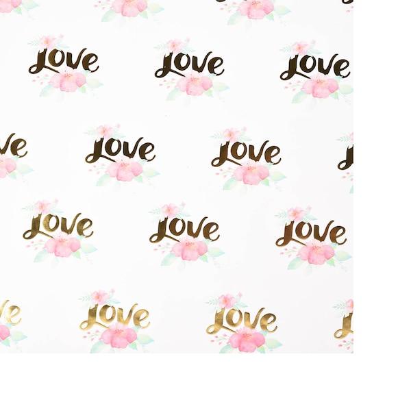 Papier cadeau Love, multicolore