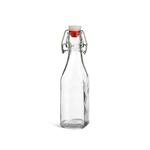 Bügelverschlussflasche, klar