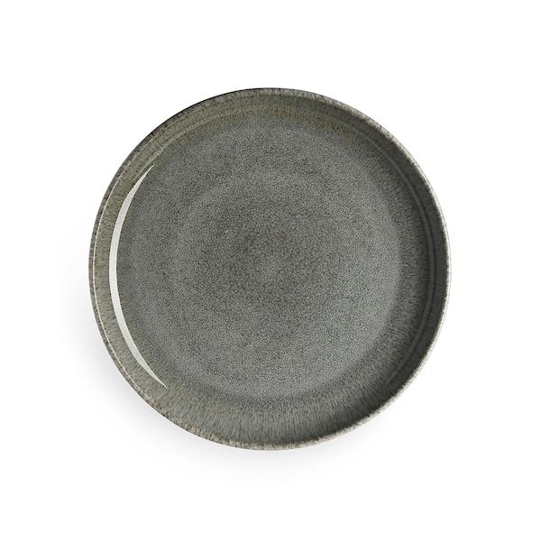 Teller, graugrün