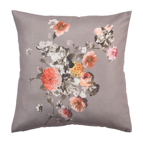 Kissenhülle Romantic Flower, dunkelgrau
