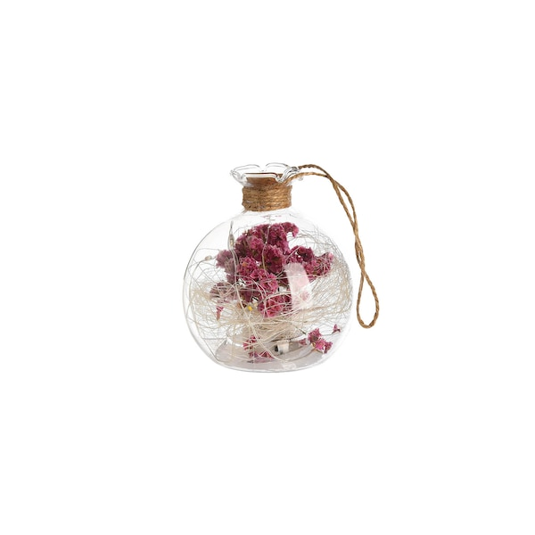 Lichtobjekt Trockenblume, rosa