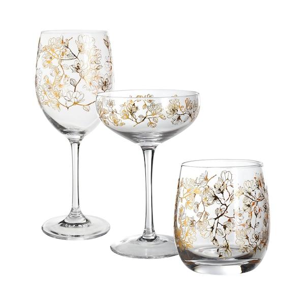 Set Gläser Magnolia, 3-teilig, ohne Farbe