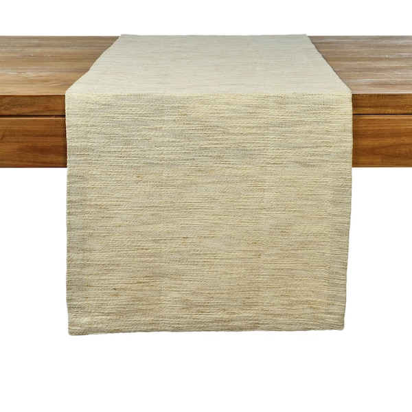 Tischläufer, grob gewebt, natur