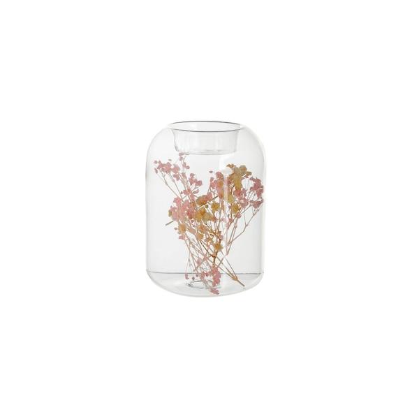 Teelichthalter Dryflower, klar
