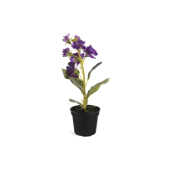 Kunstpflanze Primel im Topf, violett