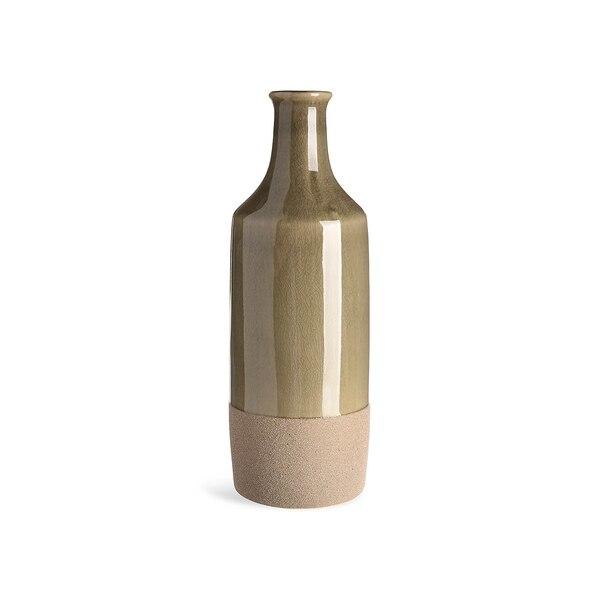Vase Botella, olivgrün